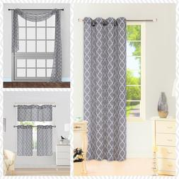1 PANEL GROMMET PRINTED VOILE SHEER WINDOW CURTAIN TREATMENT