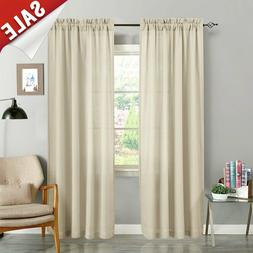 """1 Pair Sheer Curtains for Living Room Voile Curtains 84"""" L B"""