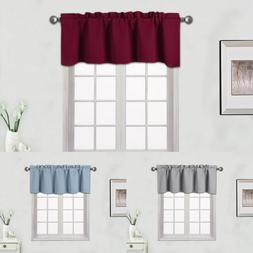 1 PANEL SOLID 100% THERMAL  BLACKOUT VALANCE WINDOW CURTAIN1