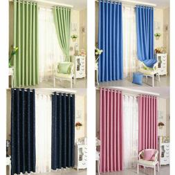 1 Panel star blackout curtains for bedroom living room curta