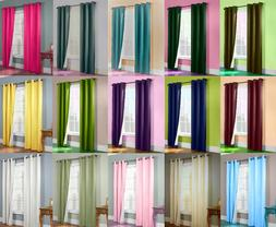 1 SET 2PC LINED HEAVY THICK  BLACKOUT GROMMET WINDOW CURTAIN