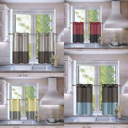 1 SET MIX MATCH COLORS WINDOW CURTAIN SEE THROUGH SMALL KITC