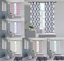 1 SET SUN BLOCKING MOROCCAN PATTERN WINDOW CURTAIN LINED BRO