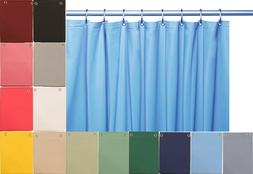 10 Mil Heavy Duty Vinyl Shower Curtain Liner with Metal Grom