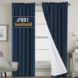 100% Blackout Curtains 84 Inch Long, Thermal