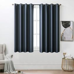 MIULEE 100% Blackout Curtains Navy Blue Curtains Thermal Ins