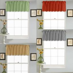 1PC SOLID STRAIGHT VALANCE TOPPER FAUX SILK WINDOW CURTAIN 5