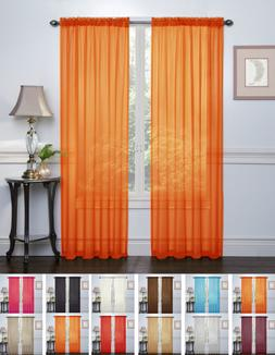 2 Pack: Halloween Themed Sheer Curtains by Regal Home Collec