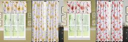 2 PANEL or 1PC VALANCE LINED BLACKOUT WINDOW FLORAL PRINTED
