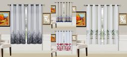 2 PANELS LINED GROMMET TOP WINDOW CURTAIN BLACKOUT NATURAL T