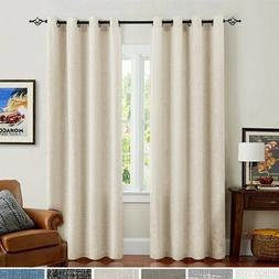 Linen Curtains for Bedroom Drapes for Living Room Burlap Fla