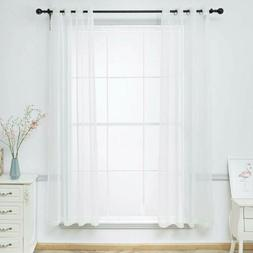 """2 Panels Sheer Curtains Voile Grommet Semi for Any Room 45"""""""