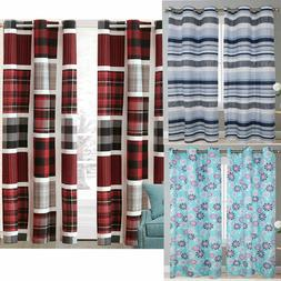 """2 Pieces Window Treatments Curtain Panels 84"""" Inch Long Poly"""