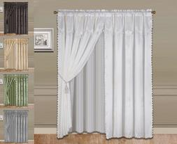 """2PC SET LUXURY ALL WINDOW CURTAIN COVER WIDE PANELS 60"""" WIDE"""