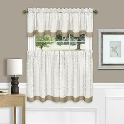 Achim Home Furnishing Westport Window Kitchen Curtains 3-Pie