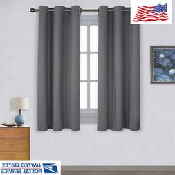 42 x 63 inch Thermal Insulated Grommet Blackout Curtains for