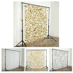 6 ft x 6 ft Flower Garland Backdrop Curtain For Wedding Deco