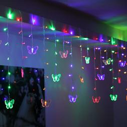 95 Butterfly LED String Curtain Lights Colorful Wedding Chil