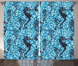 Animals Curtains 2 Panel Set for Decor 5 Sizes Available Win