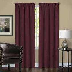 Burgundy Solid Contemporary 100% Blackout Window Curtain Dra