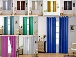 Empire Amber Solid Thermal Blackout Grommet Window Curtain P