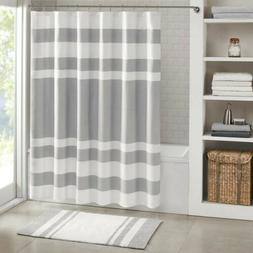 Madison Park - Spa Waffle Shower Curtain With 3M Treatment -