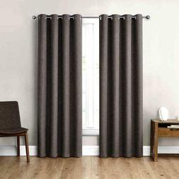 """Eclipse Absolute Zero 84"""" Blackout Curtains 2-pack Max Gray"""