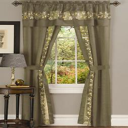 Achim Home Furnishing: Fairfield Taupe Floral Transitional W