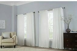 Basel 108-Inch Grommet Window Curtain Panel in White