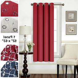 "Mellanni Blackout Curtains 1-Panel 52""x63"" Thermal Insulated"