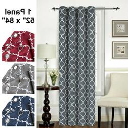 "Mellanni Blackout Curtains 1-Panel 52""x84"" Thermal Insulated"