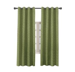 Blackout Curtains Thermal Insulated Grommet Long Curtain For