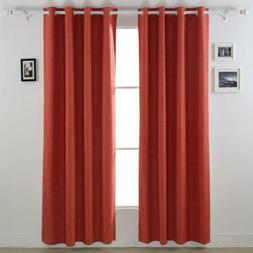 Deconovo Blackout Curtains with White Backing 52Wx95L inch,