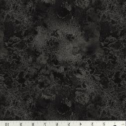 Charcoal Cosmos Gray Black Blender Cotton Quilt Fabric Wilmi