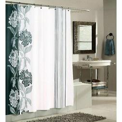 Carnation Home Fashions Chelsea Flower and Stripes Fabric Sh