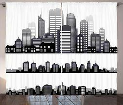 City Love Curtains 2 Panel Set for Decor 5 Sizes Available W