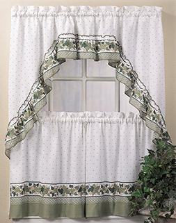 CHF Cottage Ivy Tier and Swag Valance Set