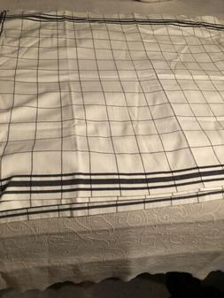 """COUNTRY CURTAIN BLACK WHITE 30""""length 42w Curtains NEW 9 P"""