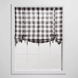 "Curtain balloon window shade 42"" x 63"" semi sheer filter lig"