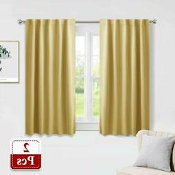 PONY DANCE Curtains 45 inch Length - Window Drapes Double Pa