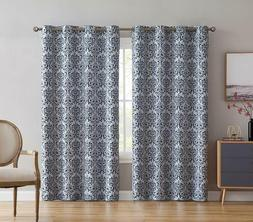 Curtains for Living Room, Bedroom, and Nursery Platinum Whit
