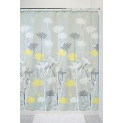 iDesign Daizy Fabric Shower Curtain for Master, Guest, Kids'