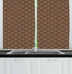 """Damask Kitchen Curtains 2 Panel Home Window Drapes 55"""" X 39"""""""
