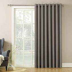 Extra-Wide Sliding Patio Door Curtain Panel with Pull Wand 1
