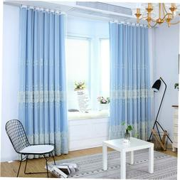 double layer embroidered curtain european window drapes