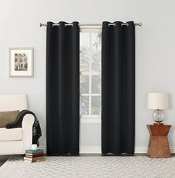Sun Zero Easton Blackout Energy Efficient Grommet Curtain Pa