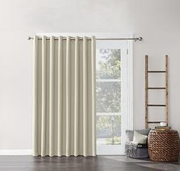 Sun Zero Easton Extra-Wide Blackout Sliding Patio Door Curta