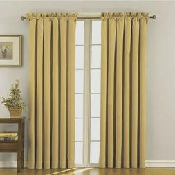 """ECLIPSE Blackout Curtains - Canova 42"""" x 63"""" Insulated GOLD"""