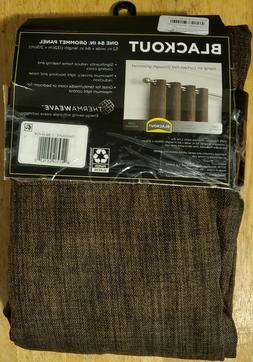 eclipse blackout curtains rowland chocolate 52 in W x 84 in