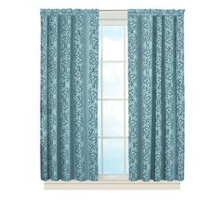 Elegant Insulated Scroll Pattern Window Curtain Panel with R